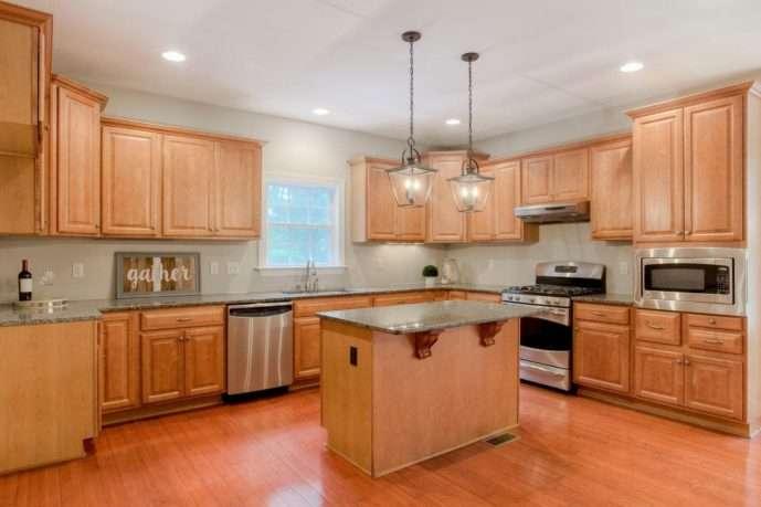 Kitchen Remodel granite island Chesterfield VA