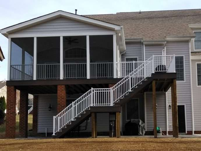 Screened Porch Addition Midlothian