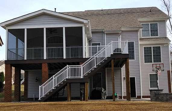 Deck Over Screened Porch Richmond Va