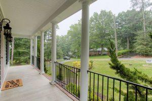 porch remodeling aluminum railing round columns Chesterfield VA