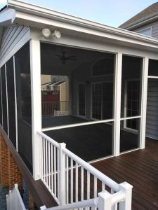 screened porch addition composite decking Midlothian VA